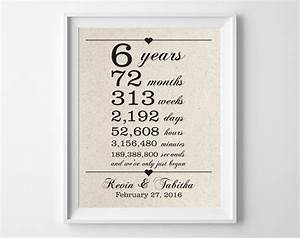 6 years together 6th anniversary gift for him cotton gift for 6 year wedding anniversary