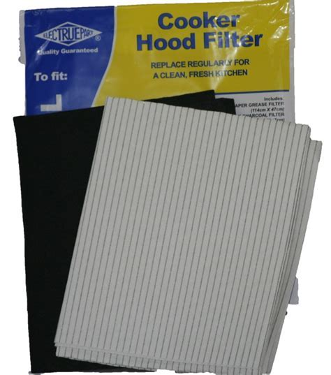 Cooker Hood Filter Grease & Charcoal Filter Kit Cookerhood