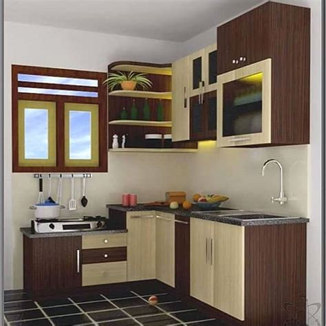 kitchen set mini terbaru dapur minimalis idaman