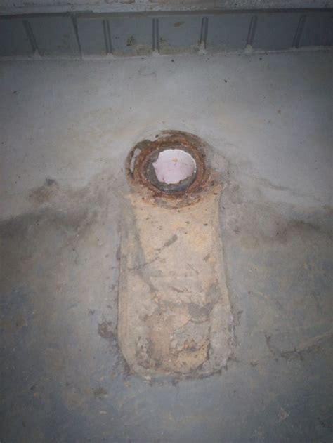 Broken Toilet Flange   Concrete Floor   Plumbing   DIY