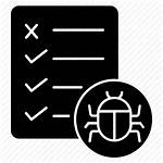 Icon Defect Incident Report Icons Bug Testing