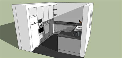 plan de cuisine en l plan 3d cuisine aménagée sur mesure acn à rennes