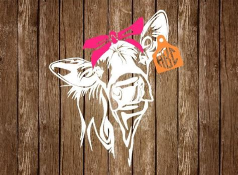 bandanna  monogram ear tag decal livestock decal rustic car decal country girl decal