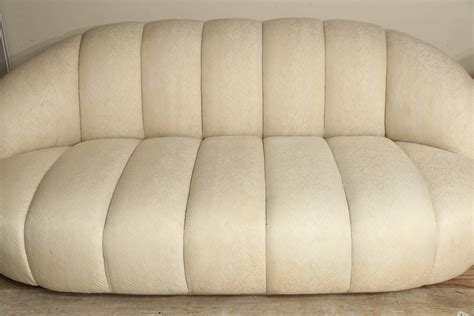 Modern Vintage A Rudin Channel Back Sofa With Matching