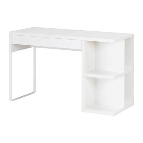 malm schreibtisch micke desk with integrated storage white ikea