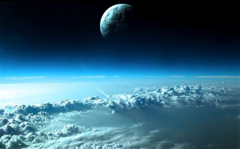 clouds outer space planets earth wallpaper