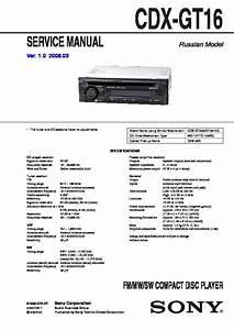 Sony Cdx Gt110 Wiring Diagram