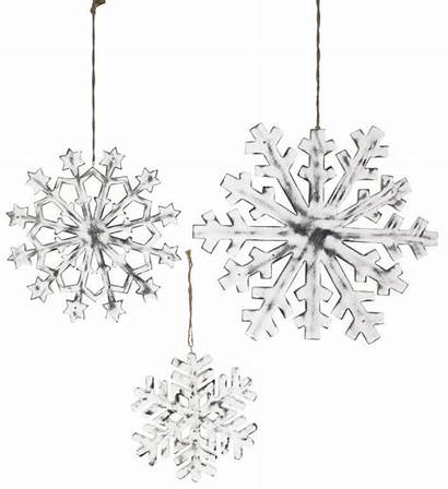 Mango Wood Snowflake Carved Decorations Magical Shabby