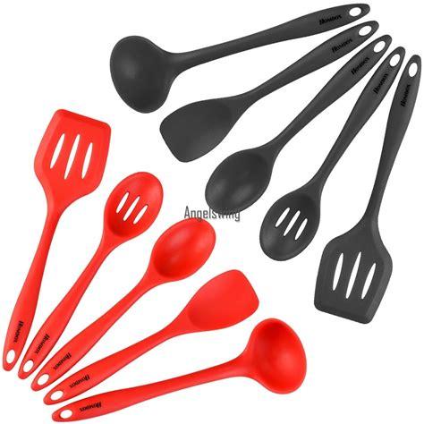 ustensiles de cuisine en silicone homdox spatule ensemble ustensiles de cuisine ustensile de
