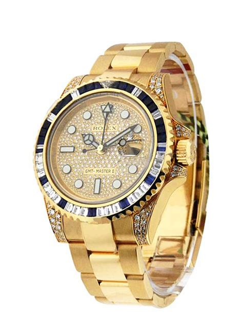 116758SA Rolex GMT Master II Yellow Gold   Essential Watches