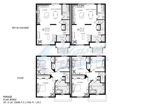 Plan Maison Avec Appartement Plan Maison 2 Appartements