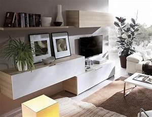 Meuble Salon Moderne : meuble tv moderne 30 designs uniques et conseils pratiques ~ Premium-room.com Idées de Décoration