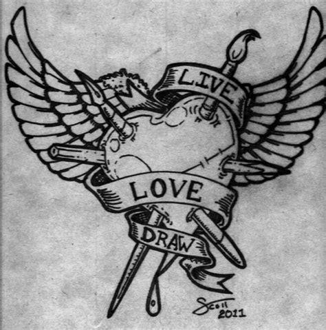 Cool Tattoo Designs to Draw Love