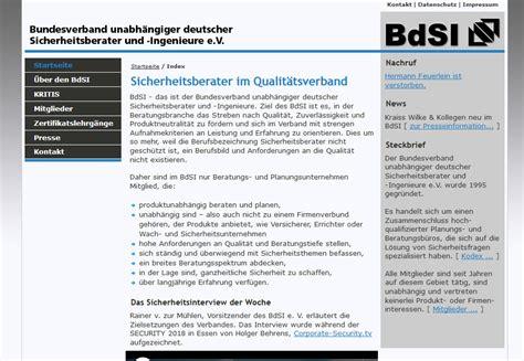 Bundesverband Unabhaengiger Deutscher Sicherheitsberater Und Ingenieure bundesverband unabh 228 ngiger deutscher sicherheitsberater
