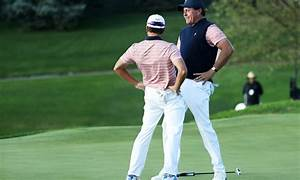 Phil Mickelson Makes Winning Putt Celebrates With Bizarre