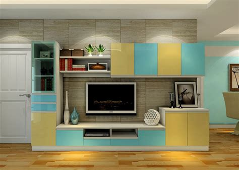 tv set interior design interior design tv cabinet combination colorful