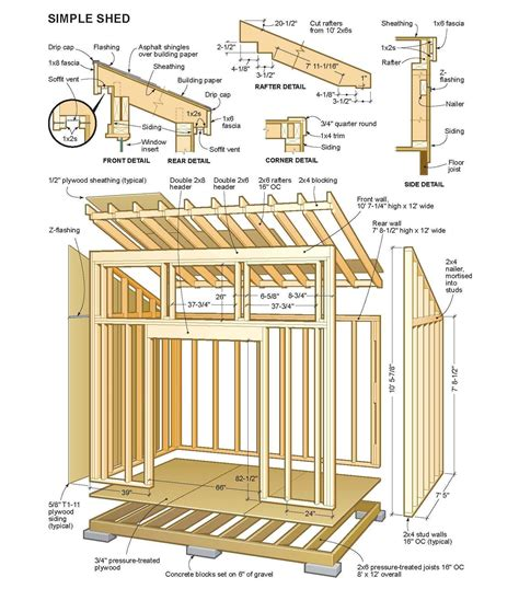 pin  greg gent  projects wood shed plans storage