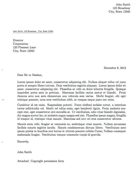 full size formal letter template educational