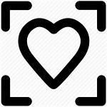 Icon Romance Point Focus Heart Icons Feelings