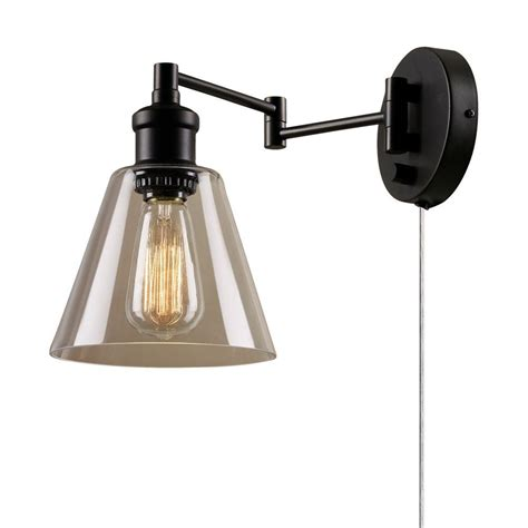 home depot rubbed bronze bathroom light fixtures globe electric leclair 1 light bronze in or