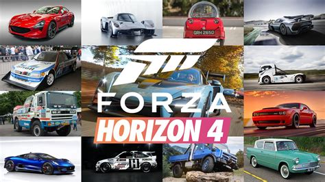 is this the car list for forza horizon 4