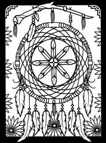 Native American Dream Catchers Coloring Pages Adult