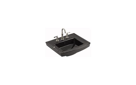 kohler k 2358 8 7 black archer 24 quot pedestal bathroom sink