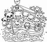 Noah Flood Ark Coloring Pages Cartoon Bible Activities Nice sketch template