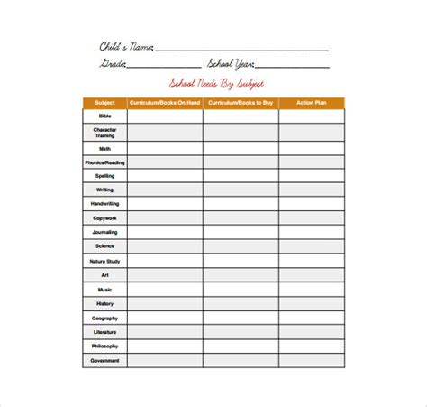 supply list template office supplies inventory template templates resume exles ymamzq6gd9