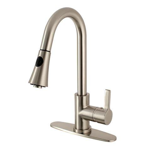 kingston brass modern single handle pull  sprayer