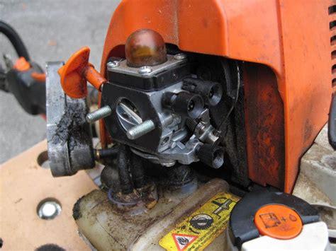 stihl fsr carb repair replace gasketdiaphragms