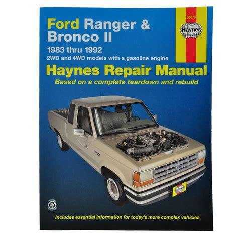 auto manual repair 1985 ford bronco ii regenerative braking haynes repair manual for 83 90 91 92 ford ranger bronco ii ebay