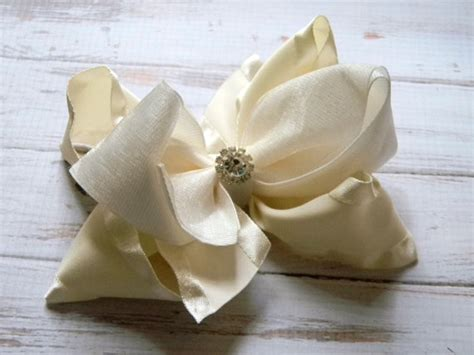 Wedding Accessories For Girls : Wedding Hair Accessories, Flower Girl, Hair Bow, Organza