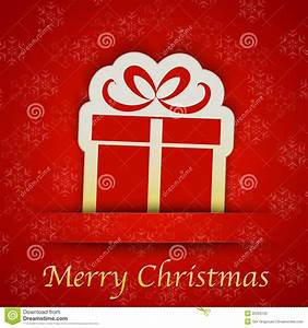 Merry Christmas Gift Card With A Simple Gift Sign Stock ...