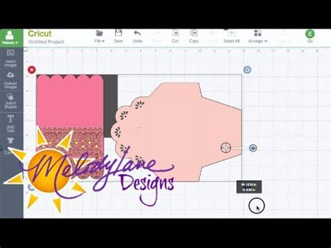sizing envelopes cards in cricut design space
