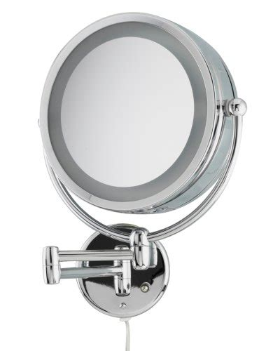 danielle wall mounted lighted makeup mirror zadro ledw410 led lighted 10x 1x wall mounted makeup