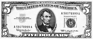 Five Dollar Bill Clipart - Clipart Suggest