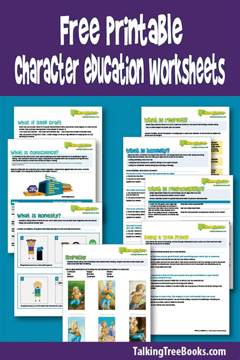 free printable character education worksheets resources