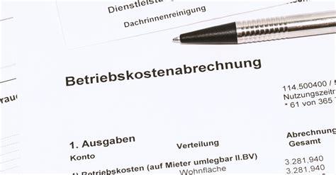 Vermietung Garage Steuer by Betriebskostenabrechnung Am Silvestertag Zugang Bis 18