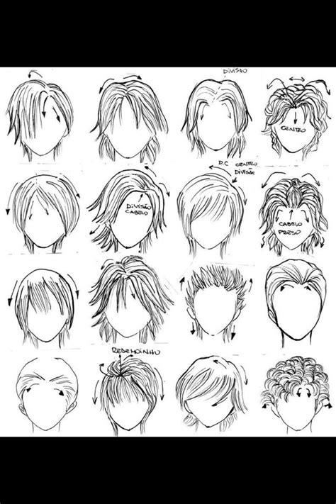anime boy hairstyles drawings manga hair   draw hair