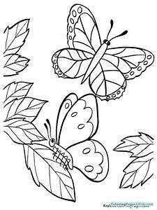 cute butterfly coloring pages - cute spring butterfly coloring pages coloring pages for kids