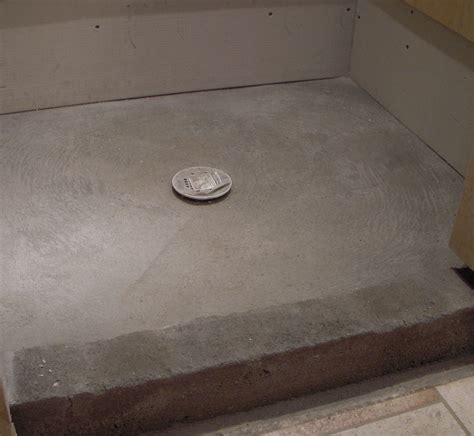Shower floor repair   pan liner, curb, and finish coat