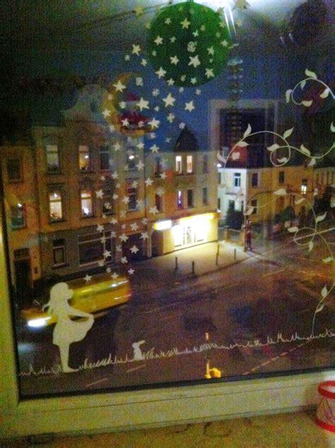 Weihnachtsdeko Fenster Schnee by Anja Frieda Fensterbild Mit Kreidestift Gemalt