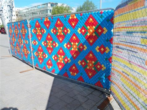 images  chain link fence art  pinterest