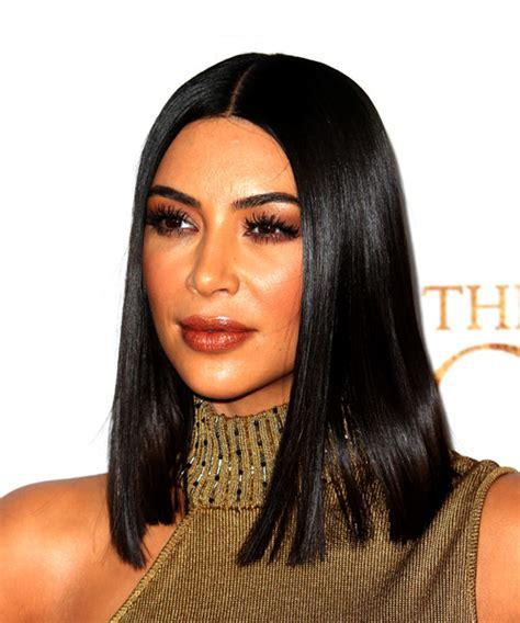 kim kardashian medium straight formal bob hairstyle
