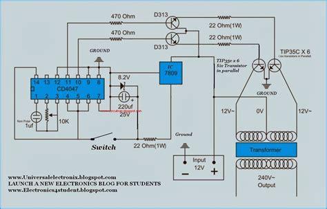 Simple Watt Inverter Circuit Diagram