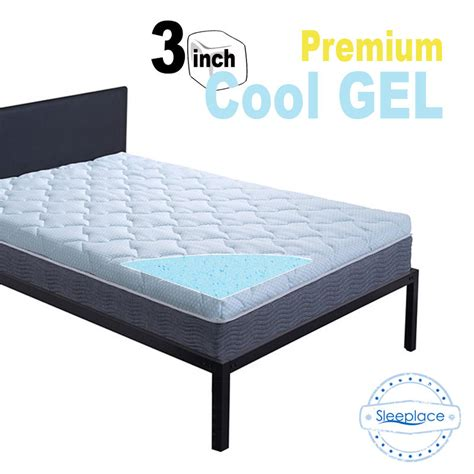 cooling memory foam mattress topper sleeplace new 3 inch premium cool gel memory foam mattress