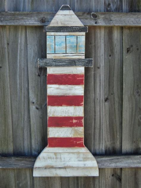 vintage weathered style lighthouse nautical wall art rustic wooden decor lake house decor