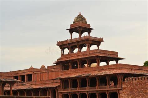 fatehpur sikri panorama stock image image  city court