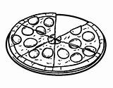 Pizza Pepperoni Coloring Pages Colorear Pasta Para Fraction Template Coloringcrew Dibujo Sketch Printable Fast sketch template
